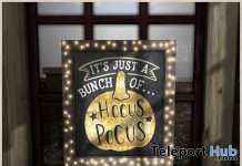 Kendra Chalkboard Hocus Pocus Halloween 2018 Group Gift by Dreamscapes Art Gallery - Teleport Hub - teleporthub.com
