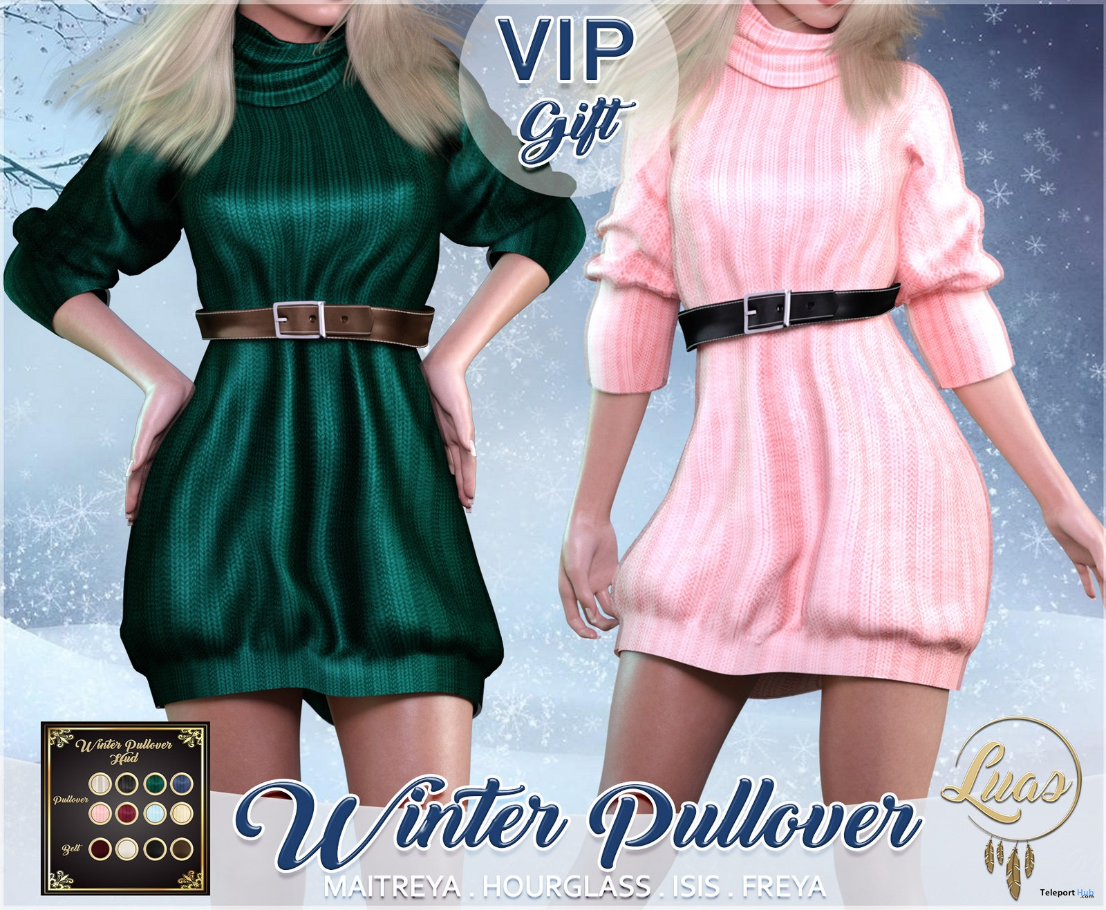 Winter Pullover Fatpack November 2018 Group Gift by Luas - Teleport Hub - teleporthub.com