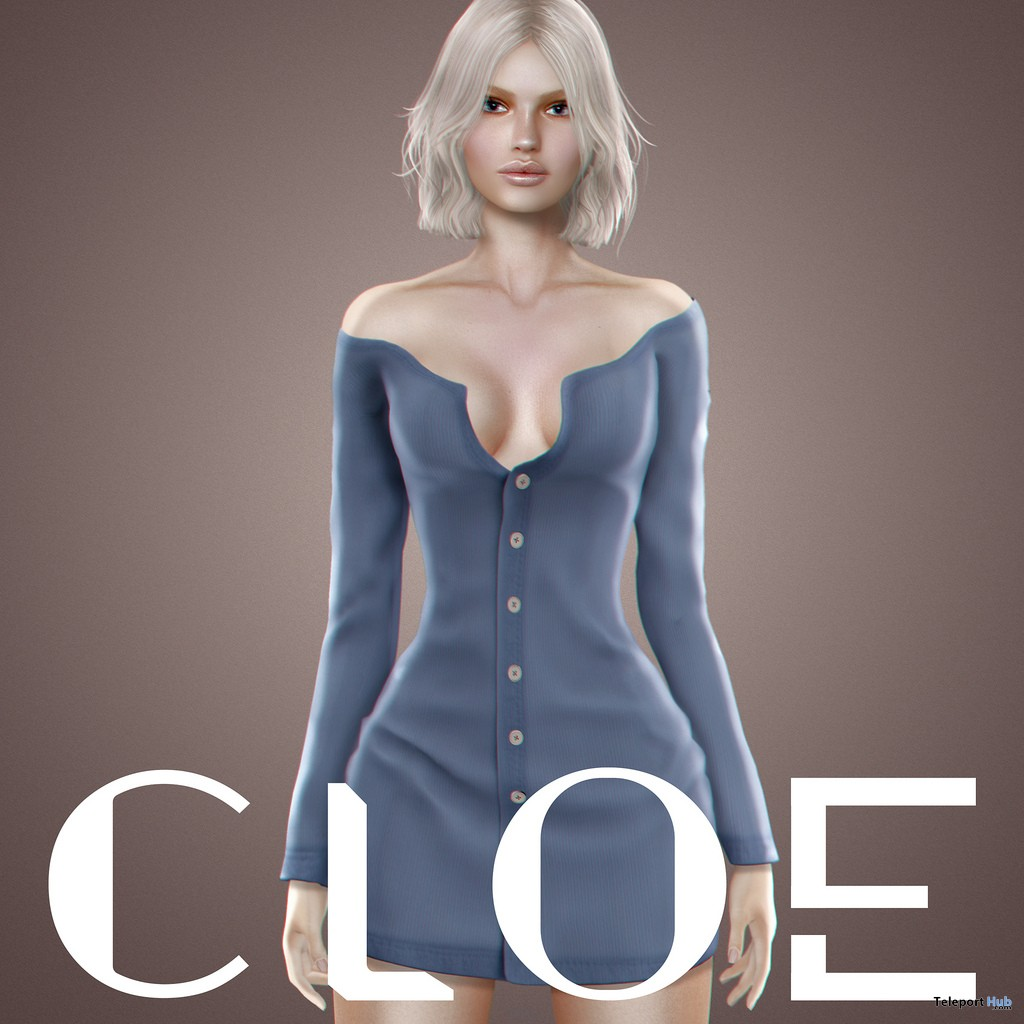 New Release: Sophie Cardigan Dress by CLOE @ Shiny Shabby November 2018 - Teleport Hub - teleporthub.com