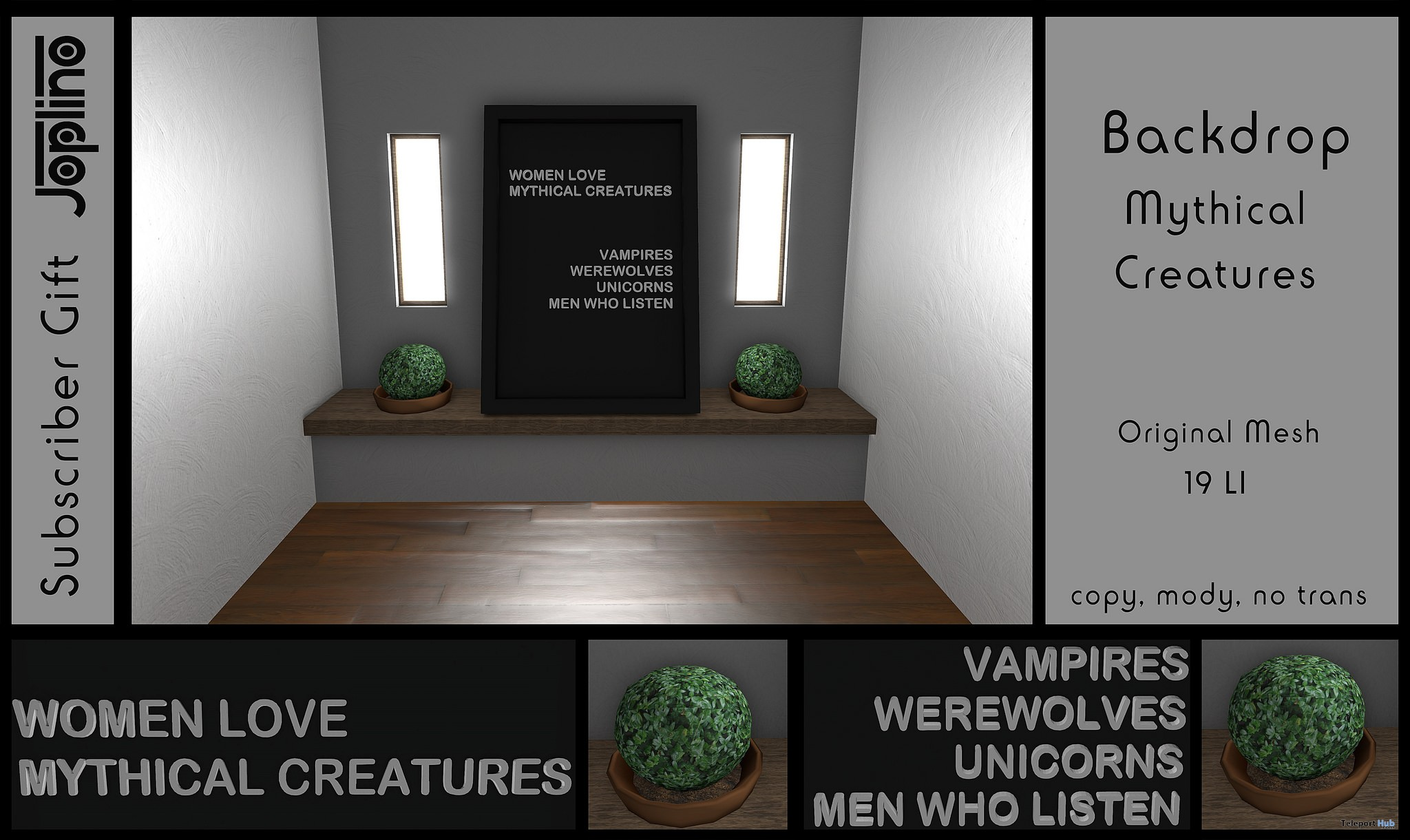 Backdrop Mythical Creatures November 2018 Subscriber Gift by Joplino - Teleport Hub - teleporthub.com