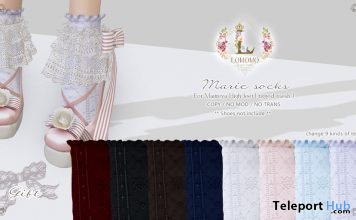 Marie Socks Gothical 2018 Event Gift by Lomomo - Teleport Hub - teleporthub.com