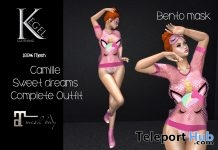 Camille Sweet Dream Outfit With Bento Mask 10L Promo by Kegel Clothing - Teleport Hub - teleporthub.com