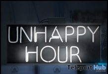 UnHappy Hour Neon Sign November 2018 Subscriber Gift by [Krescendo] - Teleport Hub - teleporthub.com