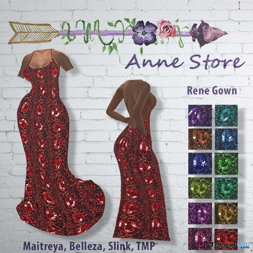 Rene Gown November 2018 Group Gift by Anne Store - Teleport Hub - teleporthub.com