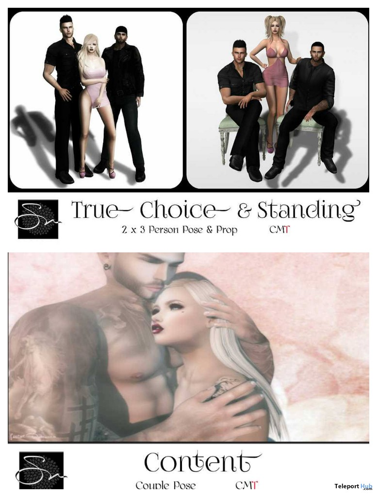 True Choice & Standing Group Pose & Content Couple Pose November 2018 Group Gift by Something New - Teleport Hub - teleporthub.com