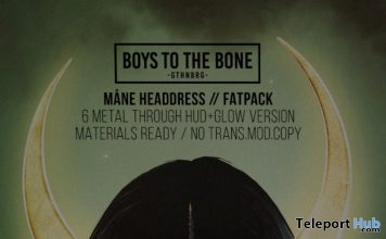 Mane Headress November 2018 Group Gift by BOYS TO THE BONE - Teleport Hub - teleporthub.com