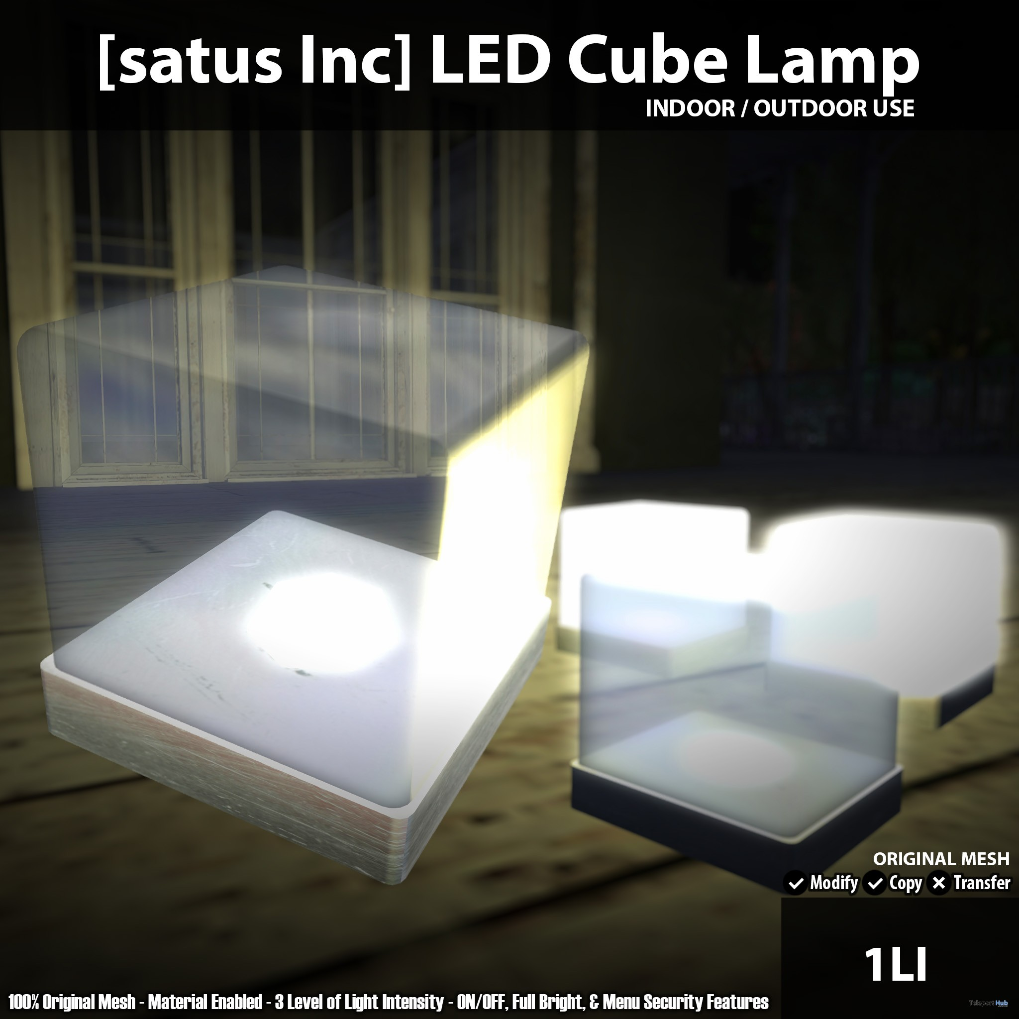 New Release: LED Cube Lamp by [satus Inc] - Teleport Hub - teleporthub.com
