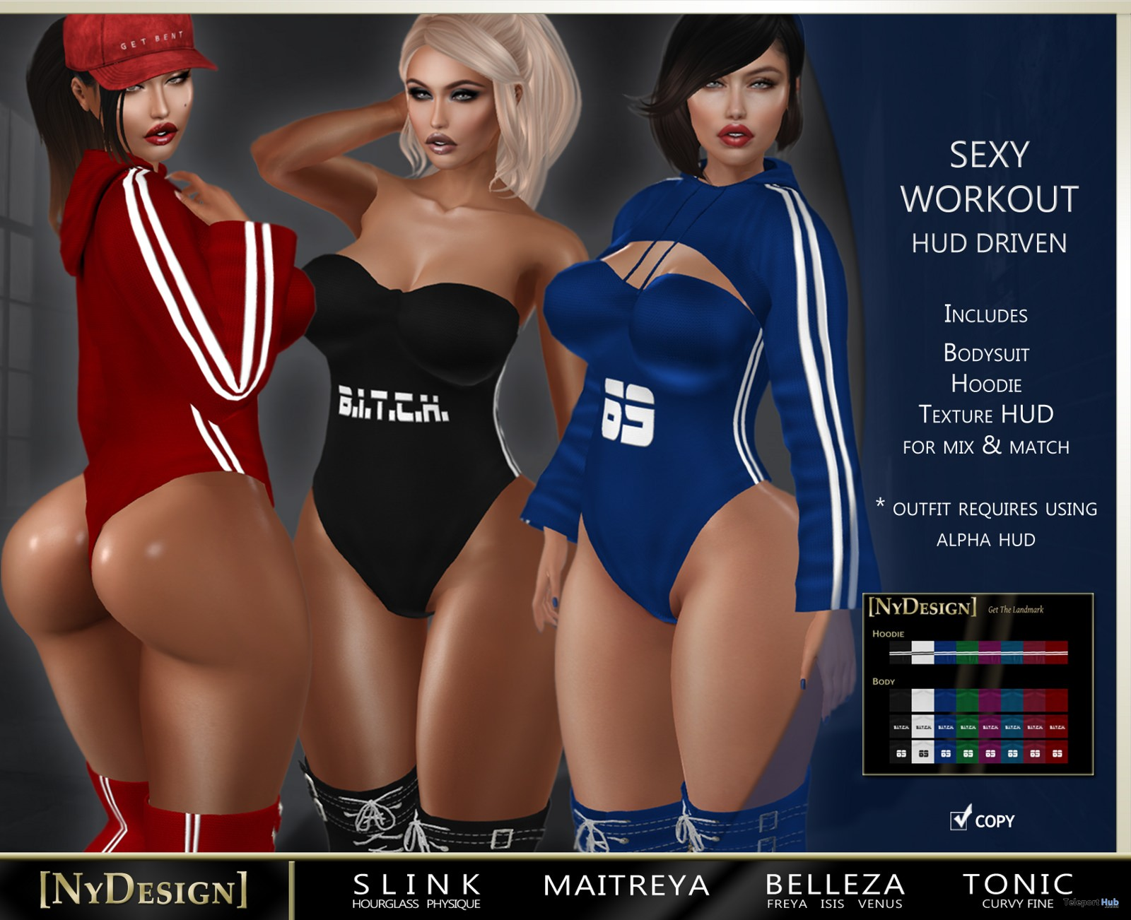 Sexy Workout Outfit Fatpack With HUD 1L Promo Gift by NyDesign - Teleport Hub - teleporthub.com - Teleport Hub - teleporthub.com