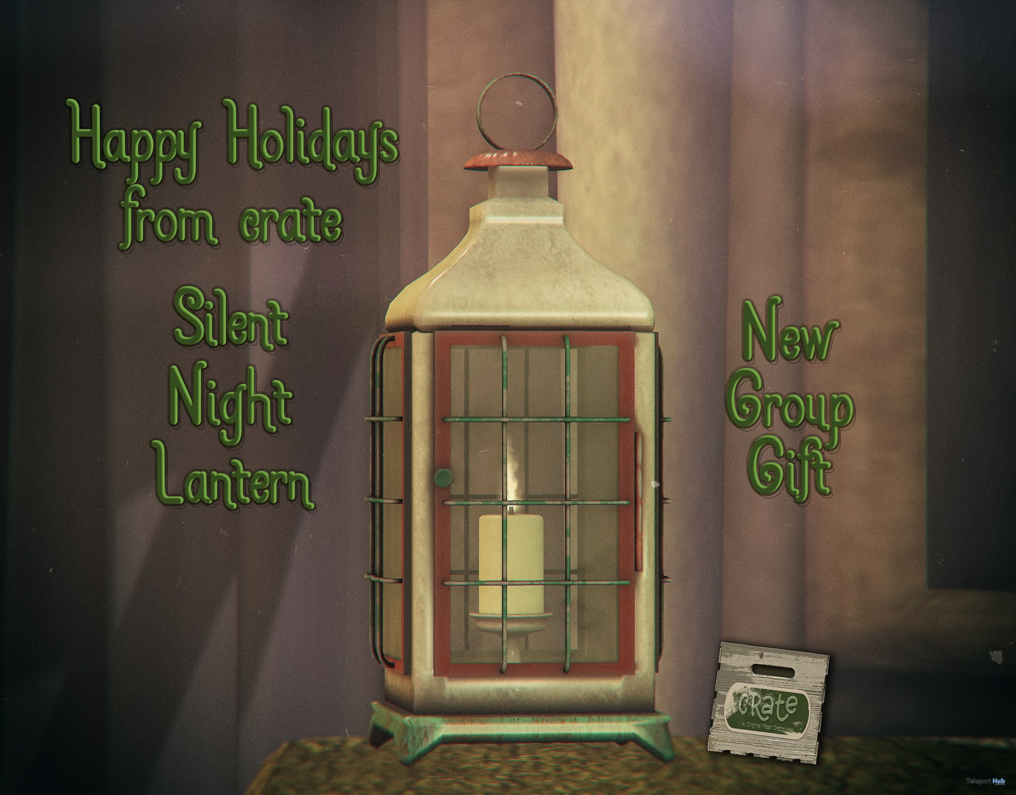 Silent Night Lantern December 2018 Group Gift by crate - Teleport Hub - teleporthub.com