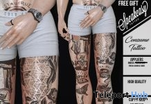 Consume Leg Tattoo Omega Applier December 2018 Gift by Speakeasy - Teleport Hub - teleporthub.com