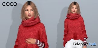 Oversized Mohair Sweater Red December 2018 Group Gift by COCO Designs - Teleport Hub - teleporthub.com