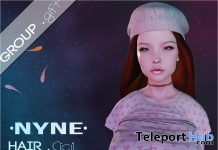 Cicil Hair December 2018 Group Gift by NYNE - Teleport Hub - teleporthub.com