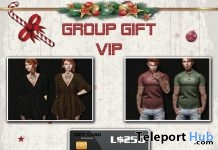 Padded Jacket & Vest, Tori Shirt, Tunic Dress, & 250L Gift Card December 2018 VIP Group Gift by Red Girl - Teleport Hub - teleporthub.com
