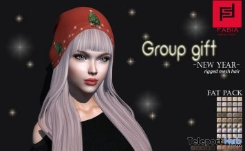 New Year Hair Fatpack December 2018 Group Gift by FABIA - Teleport Hub - teleporthub.com