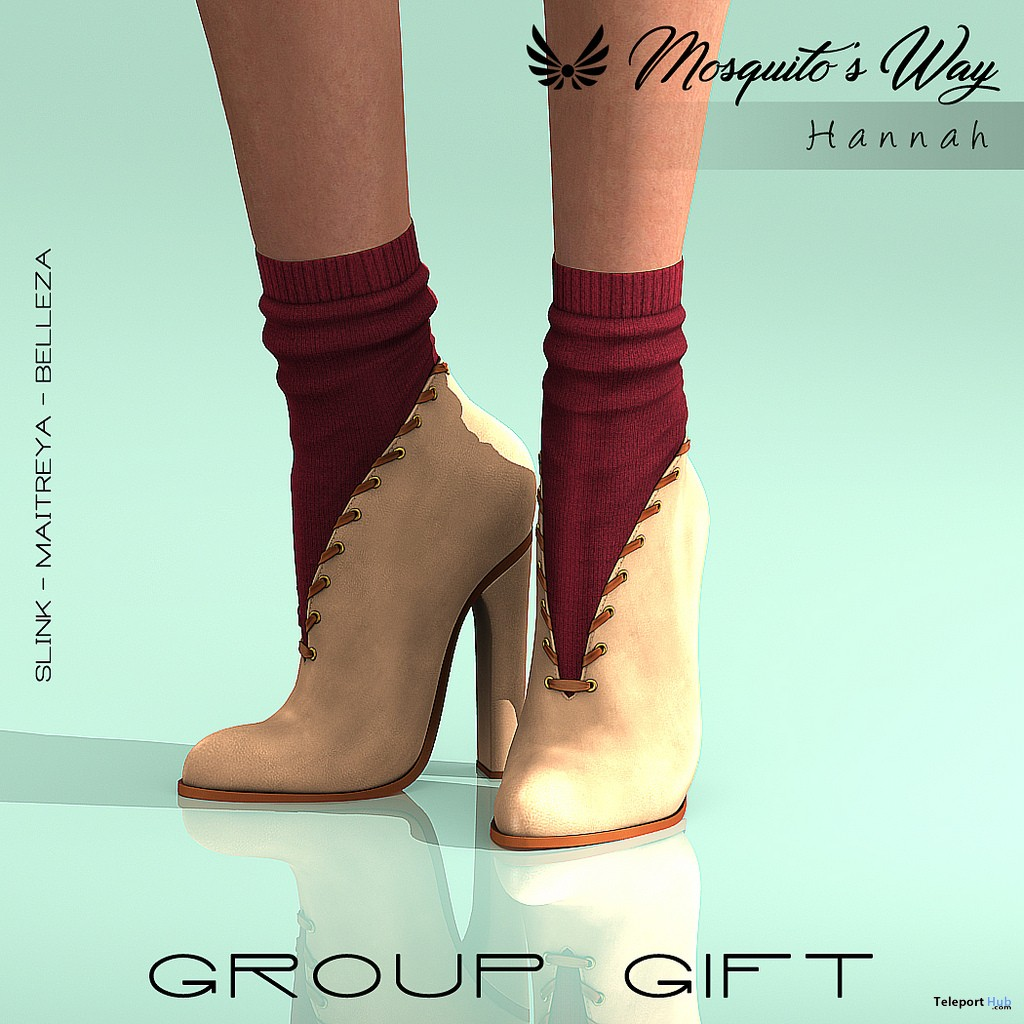 Hannah Boots December 2018 Group Gift by Mosquito's Way - Teleport Hub - teleporthub.com - Teleport Hub - teleporthub.com