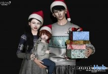 Merry Christmas 02 Family Pose December 2018 Group Gift by Kokoro Poses - Teleport Hub - teleporthub.com