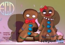 Gingerbread Miss & Mister Avatar Fitted Mesh December 2018 Group Gift by E-Clipse Design - Teleport Hub - teleporthub.com