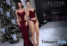Zhang Dress Burgundy, Ravena Set With Jewelry & Shoes Christmas 2018 Gift by Glitzz - Teleport Hub - teleporthub.com