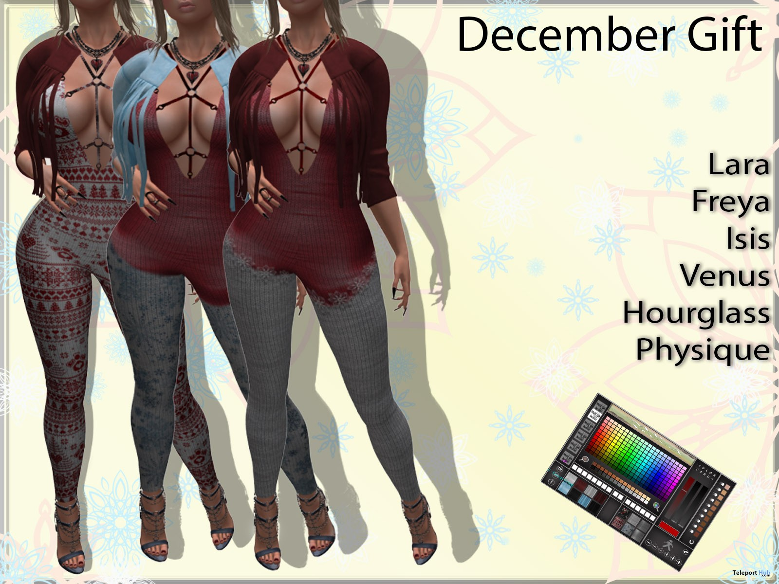 Jumpsuit & Jacket December 2018 Group Gift by MP Pixel - Teleport Hub - teleporthub.com