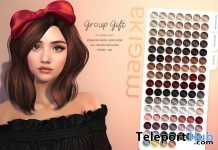 Penelope Hair With Red Bow Fatpack December 2018 Group Gift by Magika - Teleport Hub - teleporthub.com