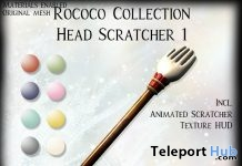 Rococo Head Scratcher December 2018 Group Gift by Chateau D'Esprit - Teleport Hub - teleporthub.com