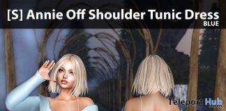 New Release: [S] Annie Off Shoulder Tunic Dress by [satus Inc] - Teleport Hub - teleporthub.com