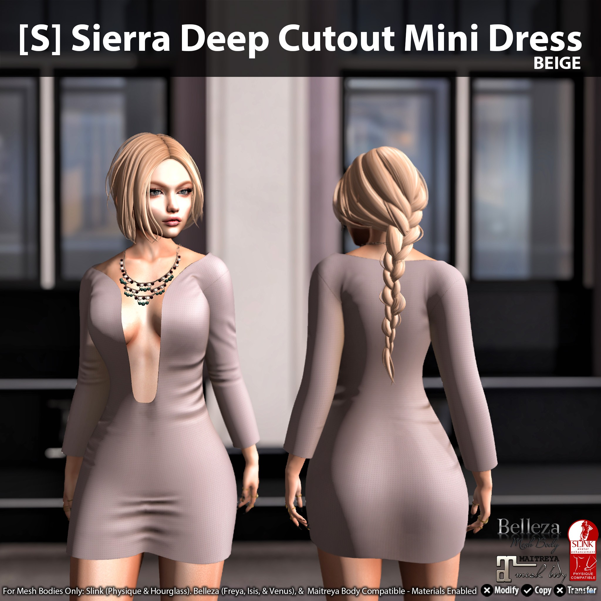 [S] Sierra Deep Cutout Mini Dress by [satus Inc] - Teleport Hub - teleporthub.com