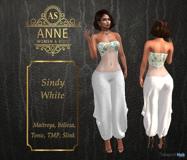 Sindy White Jumper December 2018 Group Gift by Anne Store - Teleport Hub - teleporthub.com