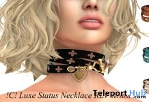 Luxe Status Necklace RLV version December 2018 Gift by Cartouche! - Teleport Hub - teleporthub.com