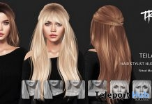 Teila Hair Fatpack With Style HUD December 2018 Group Gift by TRUTH HAIR - Teleport Hub - teleporthub.com