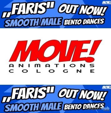 New Release: Faris Male Bento Dance Pack by MOVE! Animations Cologne - Teleport Hub - teleporthub.com