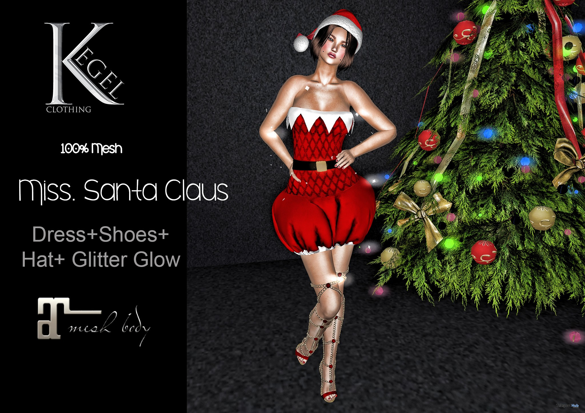 Miss Santa Claus December 2018 Group Gift by Kegel Clothing - Teleport Hub - teleporthub.com