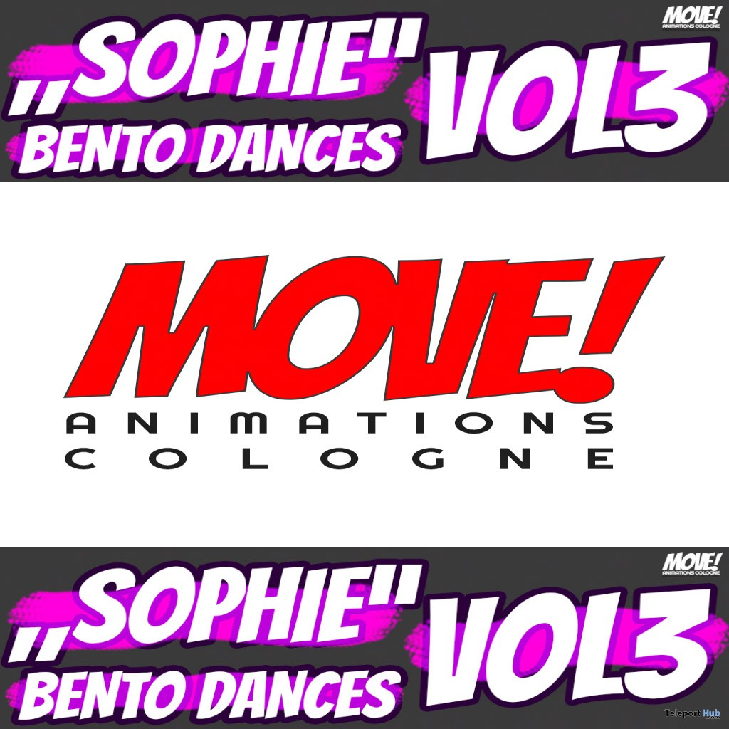 New Release: Sophie Vol 3 Bento Dance Pack by MOVE! Animations Cologne - Teleport Hub - teleporthub.com
