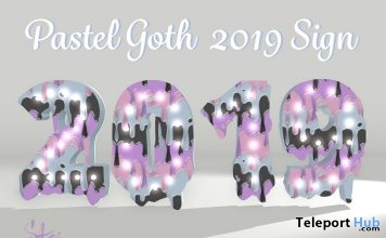 Pastel Goth 2019 Sign January 2019 Gift by Star Sugar - Teleport Hub - teleporthub.com