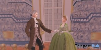 18th Century Ladies & Gentlemen Outfits With Wigs January 2019 Gift by Chateau D'Esprit- Teleport Hub - teleporthub.com