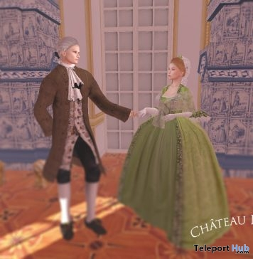 18th Century Ladies & Gentlemen Outfits With Wigs January 2019 Gift by Chateau D'Esprit - Teleport Hub - teleporthub.com