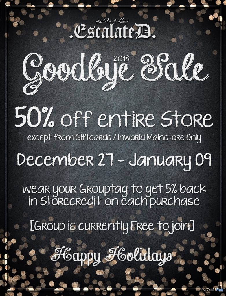 Goodbye 2018 Sale by EscalateD - Teleport Hub - teleporthub.com