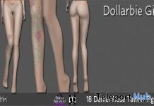 18 Denier Rose Tattoo Tights 1L Promo Gift by AvInk - Teleport Hub - teleporthub.com