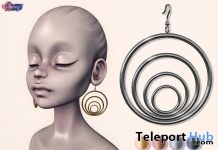 Amber Earrings January 2019 Group Gift by Eternus - Teleport Hub - teleporthub.com