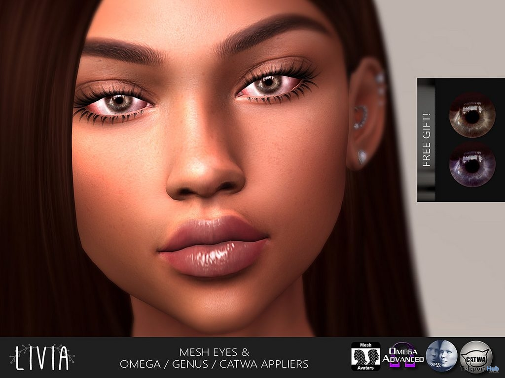 Val Mesh Eyes & Appliers Designer Showcase 8th Anniversary Group Gift by LIVIA - Teleport Hub - teleporthub.com