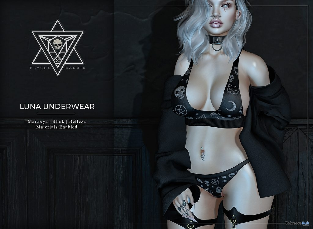 Luna Underwear January 2019 Group Gift by Psycho Barbie - Teleport Hub - teleporthub.com