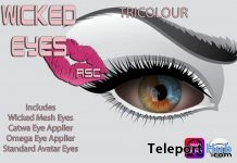 Wicked Eyes Tricolor January 2019 Gift by Rachel Swallows Creations- Teleport Hub - teleporthub.com
