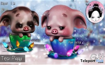 Tea Piggy January 2019 Gift by Yokai - Teleport Hub - teleporthub.com