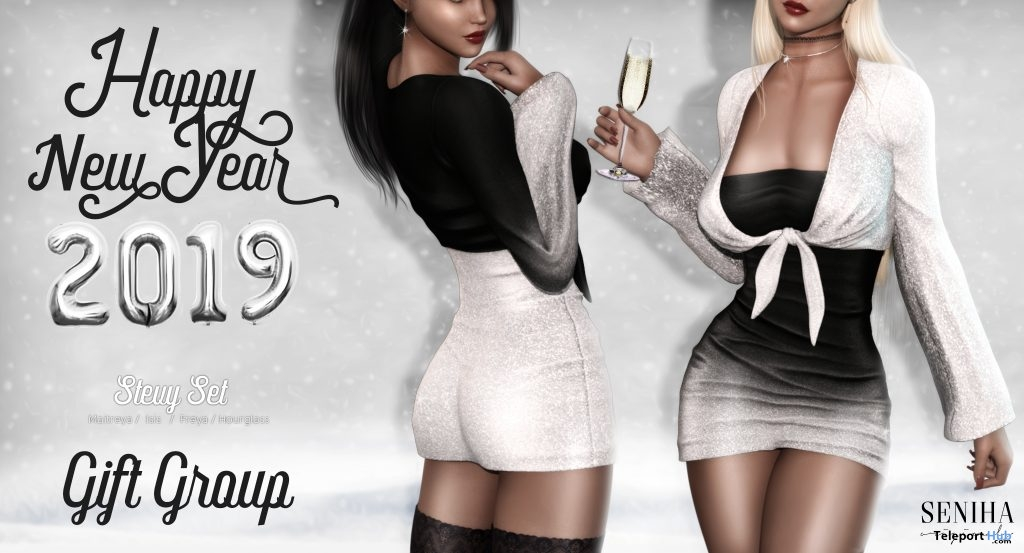 Stevy Set Outfit New Year 2019 Group Gift by Seniha Originals- Teleport Hub - teleporthub.com