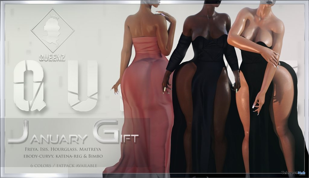 Promise Dress January 2019 Group Gift by QUEENZ - Teleport Hub - teleporthub.com