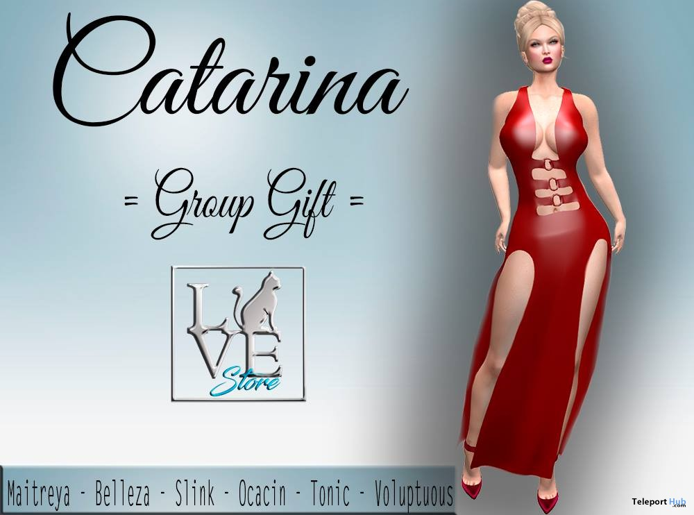 Catarina Mesh Dress January 2019 Group Gift by LoveCat Store - Teleport Hub - teleporthub.com
