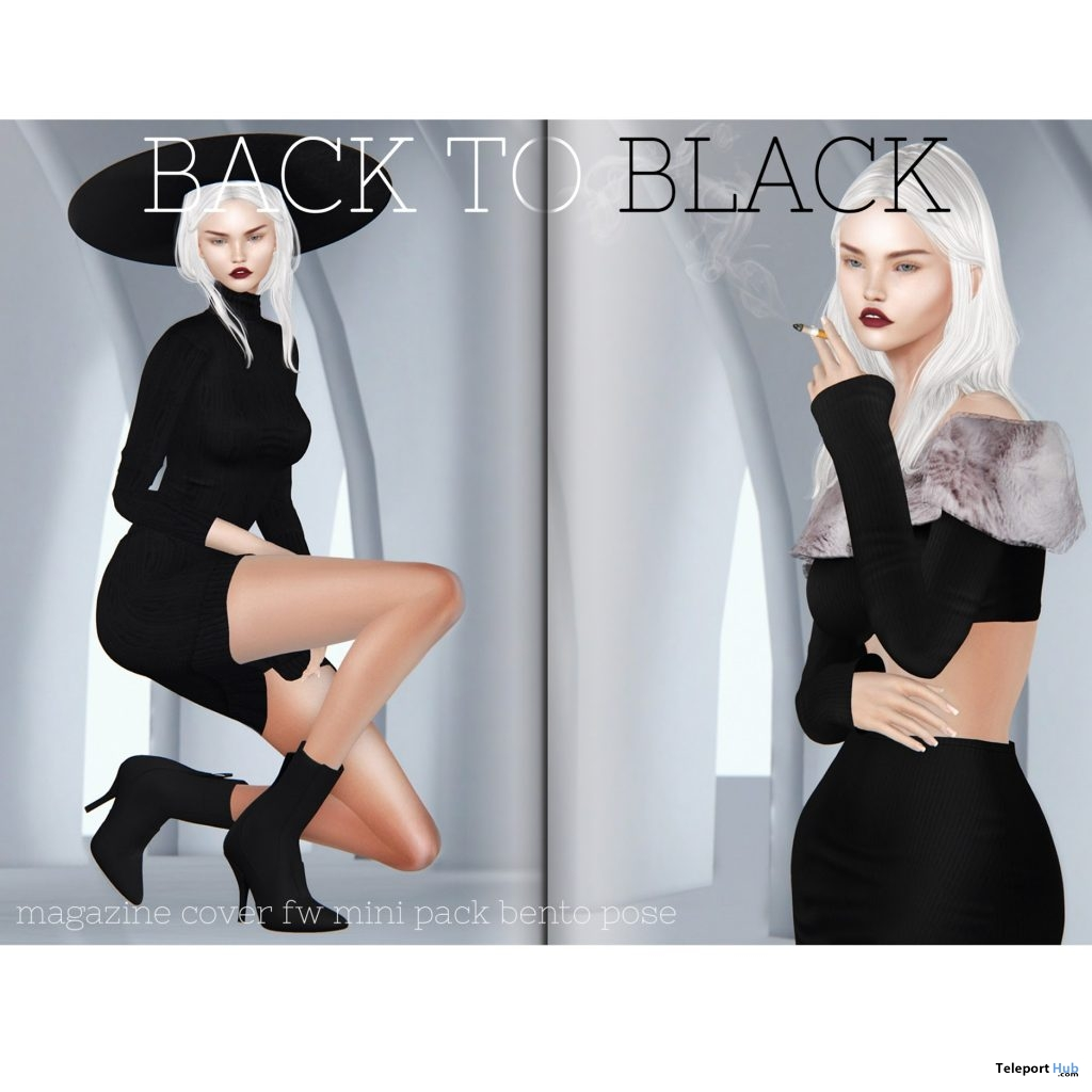 Magazine Cover FW Mini Bento Pose Pack January 2019 Group Gift by LUNE - Teleport Hub - teleporthub.com