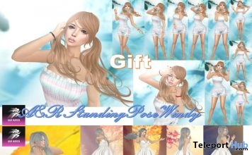 Windy Standing Bento Poses 1 & 2 January 2019 Gift by A&R Haven- Teleport Hub - teleporthub.com