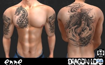 Dragon Lord Tattoo 5L Promo by ENNE - Teleport Hub - teleporthub.com