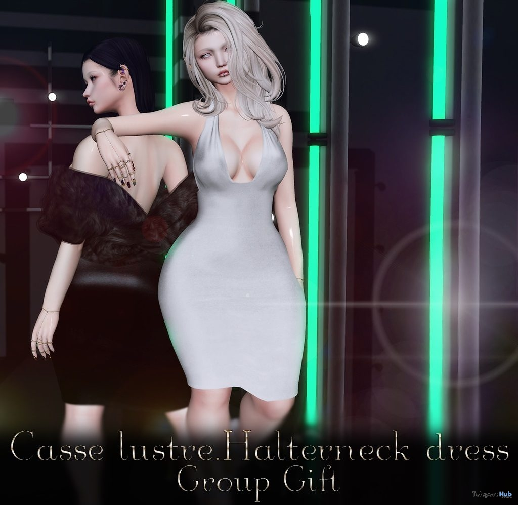 Halterneck Dress January 2019 Group Gift by Casse Lustre - Teleport Hub - teleporthub.com